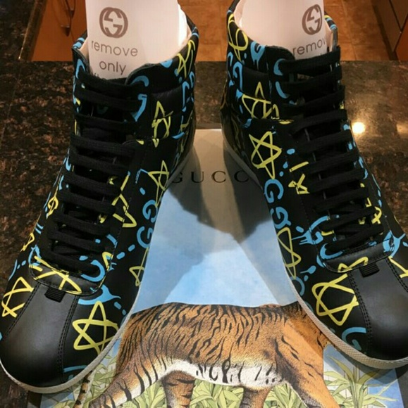 8f987b094e4 Gucci Ghost Sneakers High Top